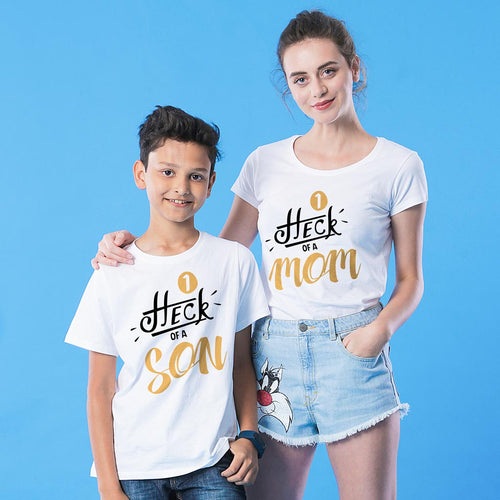 Heck Of A Mom & Son Tees