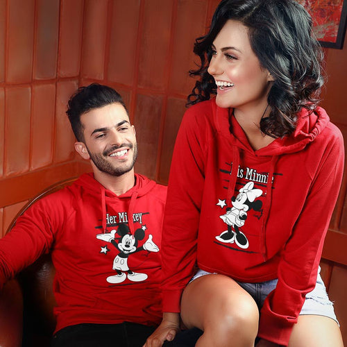 Her Mickey/His Minnie, Disney Hoodies For Couples