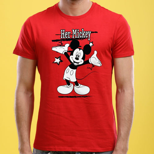 Her Mickey/His Minne, Disney Tee For Men