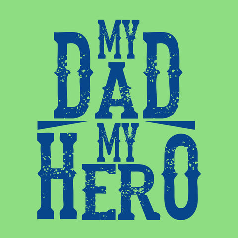 Bright Green My Son/Dad My Hero Father-Son Tees