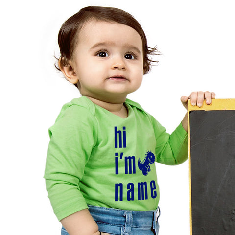 Hi I'm,  Personalized Bodysuit For Baby