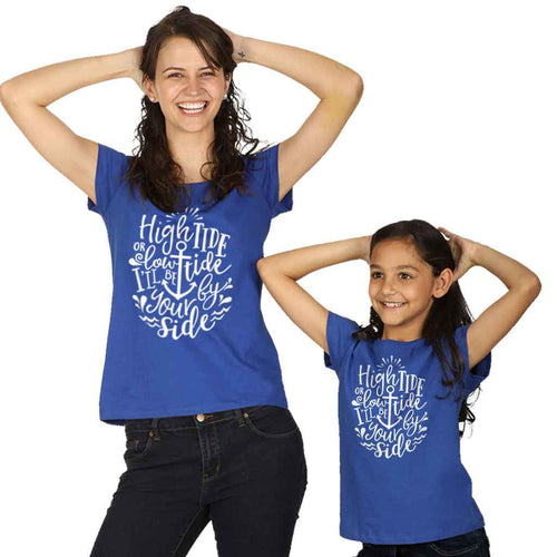 High Tide Or Low Tide Mom Daughter Tees