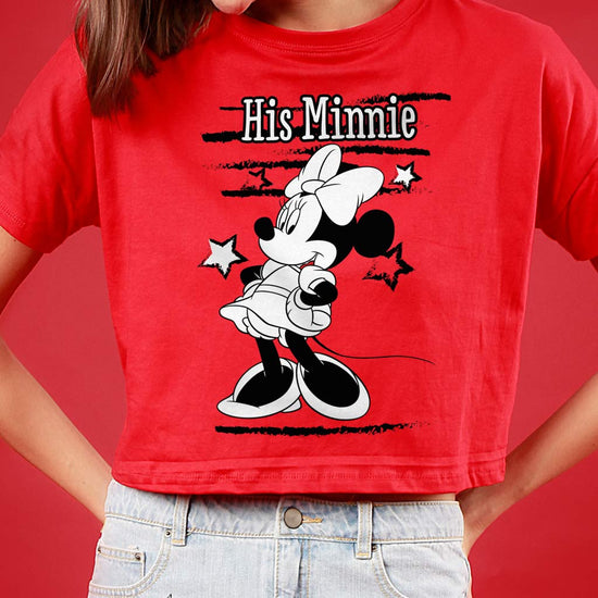 Her Mickey/His Minnie, Disney Couple Crop Top And Tees