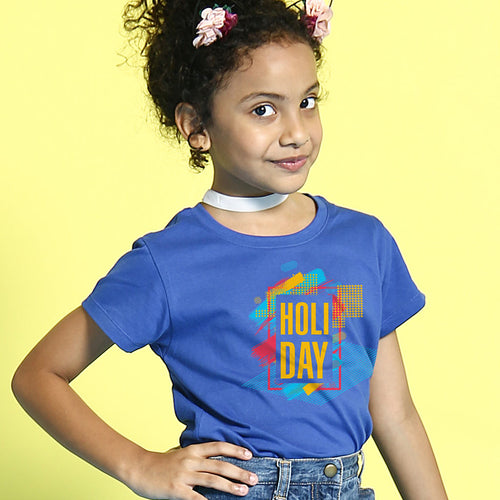 Holi Day , Matching Bro & Sis Holi Tees for sister