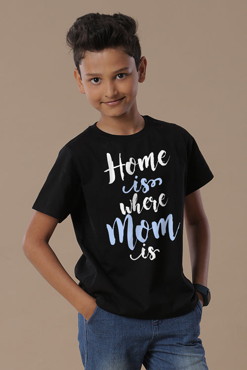 Home Is Where Mom Is Mom & Son Tees for son