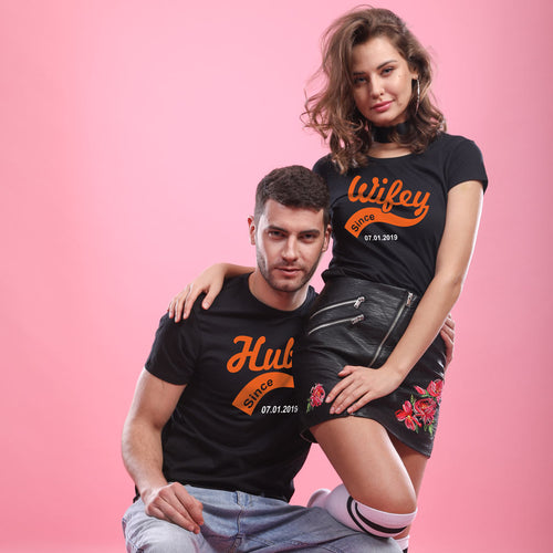 Hubby/Wifey, Matching Tees For Couples