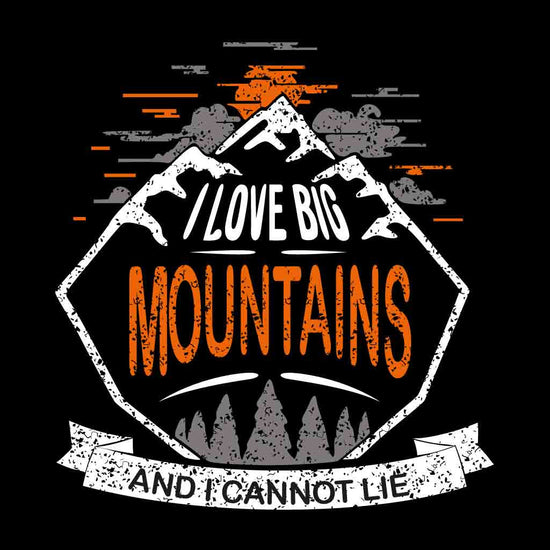 I Love Big Mountains Friends Tees