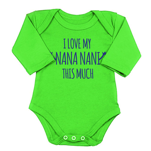 I Love My Nani Nani This Much, Matching Bodysuits And Tees For Brother And Sister