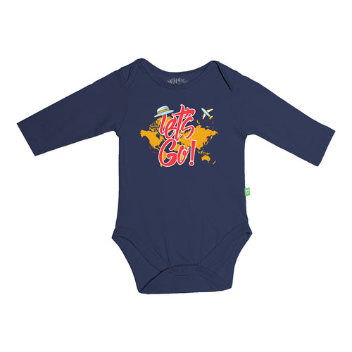 Let's Go, Matching Navy Blue Travel Tees For Infant