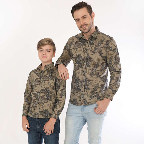 Into The Wild, Full Sleeves Matching Shirts For Father And Son