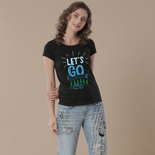 Let's Go Anywhere, Matching Travel Tees For Women