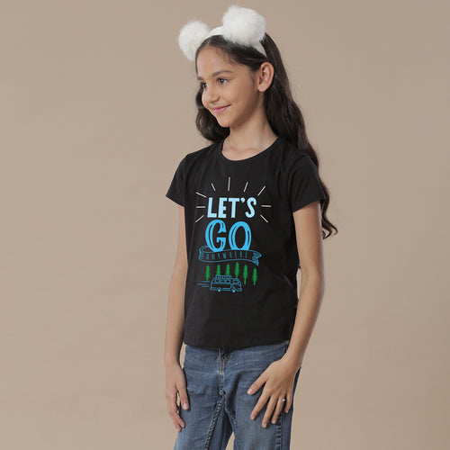 Let's Go Anywhere, Matching Travel Tees For Girl