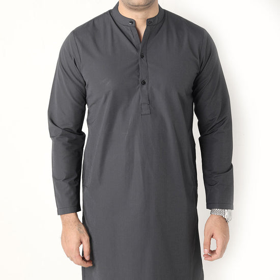 Black Stripes  Matching Kurta & Pyjama Set  For Dad And Son