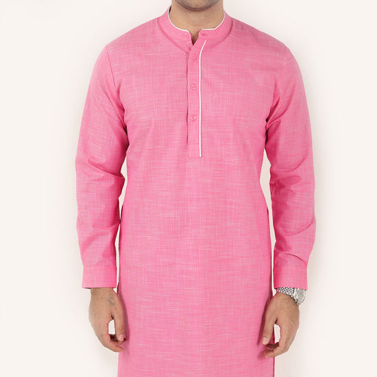 Dark Pink, Matching Kurta For Dad And Son