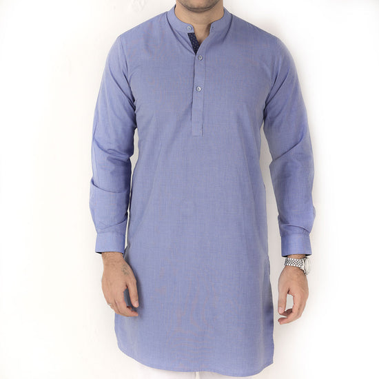Blue Hues,  Matching Kurta And Pyjama Set For Dad And Son