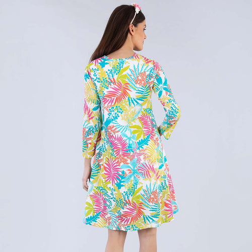 Tropical Addiction Flare Dress For Women