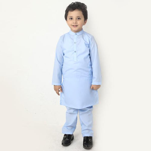 All Blue, Matching Kurta And Pyjama Set  For Son