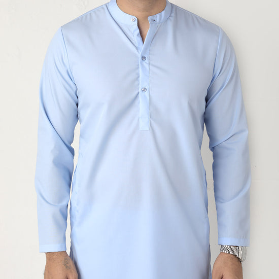 All Blue, Matching Kurta And Pyjama Set  For Dad And Son