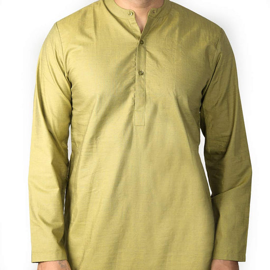 Olive shimmer Matching Kurta and pyjama set For Dad And Son