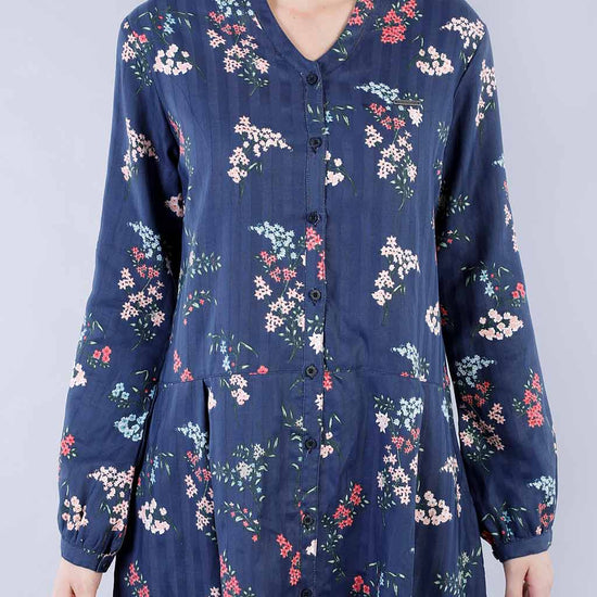 Floral Angels Shirt Dress And Printed Slip Ons For Mom And Daughter
