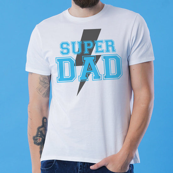 Super Dad, Daughter and Son White Tee
