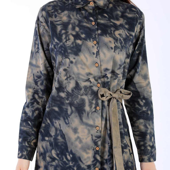 Divas Camouflage Shirt Dress For Women
