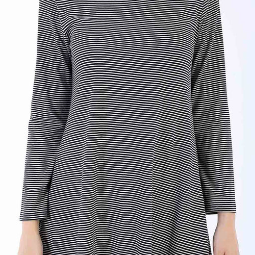 Hypnotic Stripes Flare Dress For Women