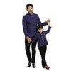 Purple embroidered bandhgala jacket for father-son