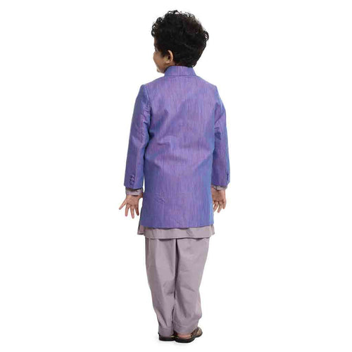 An Elegant Light purple indo-western set for Father-Son