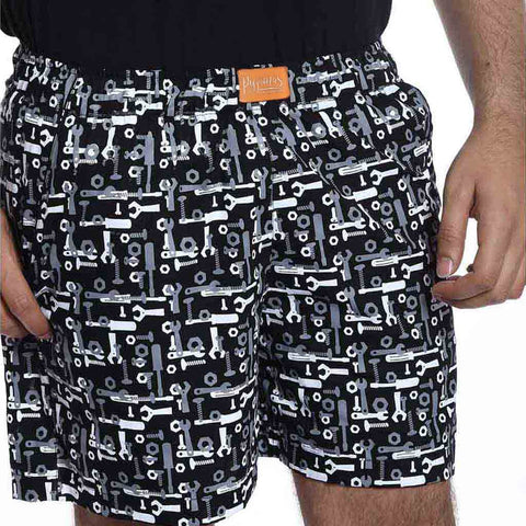 Black printed boxers Only