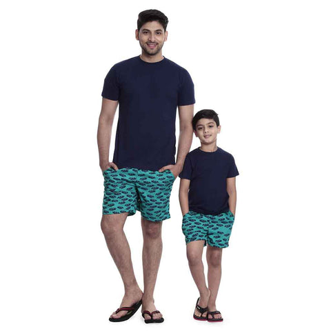 Teal green car Print boxers Only