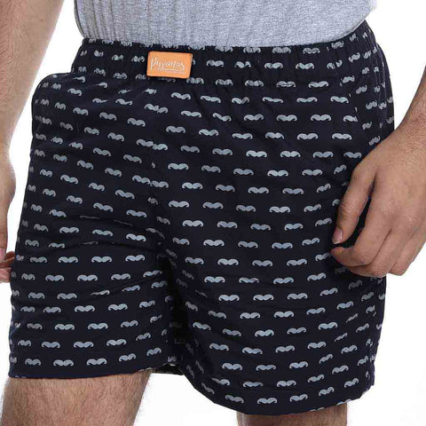 Cotton rich black moustache Boxers only