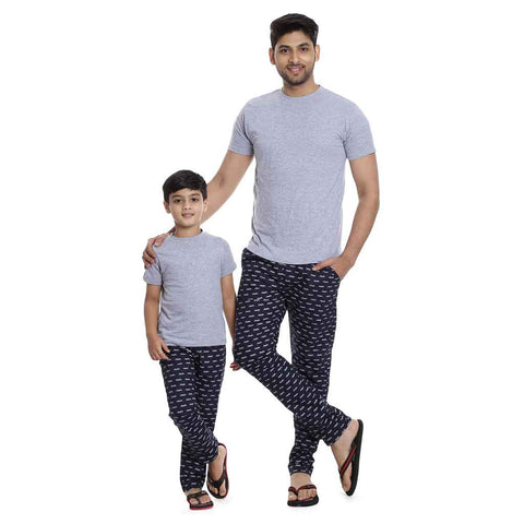 Cotton rich black moustache Print Pyjamas Only