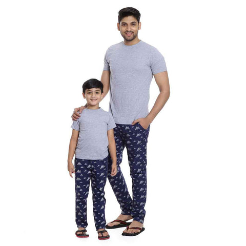 Cotton rich navy blue aircraft Print Pyjamas Only