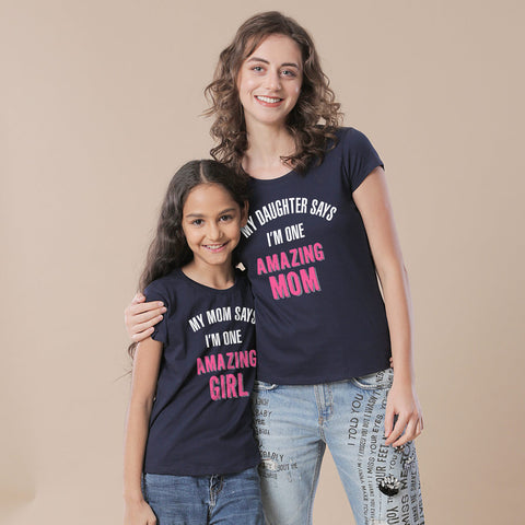 I'm One Amazing Mom Daughter Tees