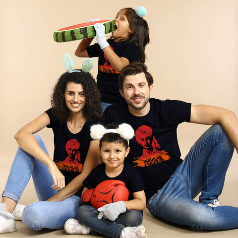 Inquilab Zindabaad Family Tees