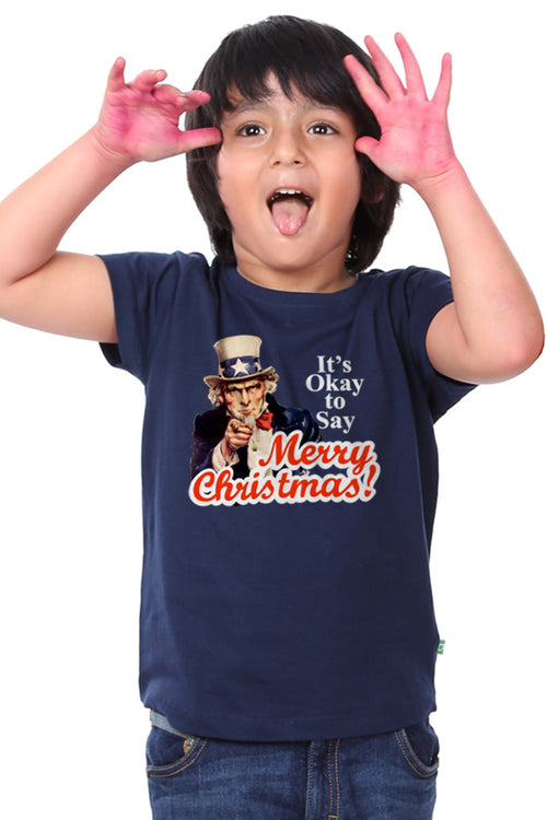 It's Okay to Say Merry Christmas Tees For Son