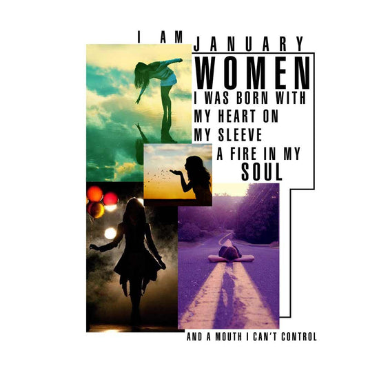 I m a January women Birthday Tee