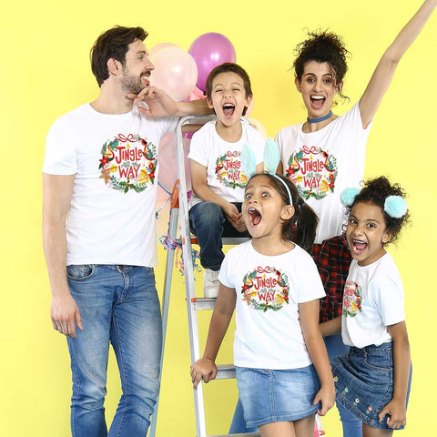 Jingle all the way , family tees