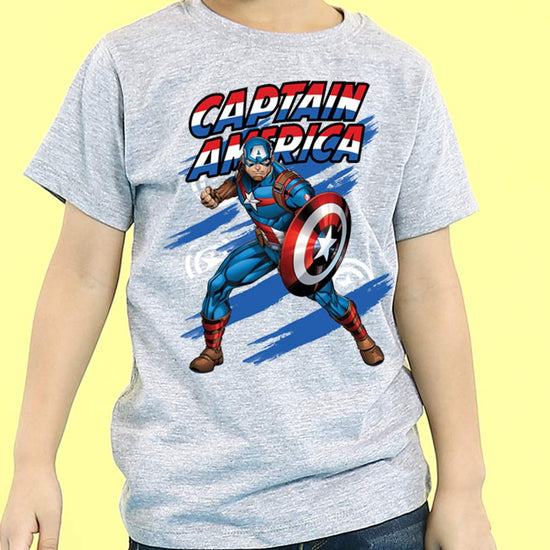 Watch Out For Captain America, Matching Marvel Tees For Dad And Son