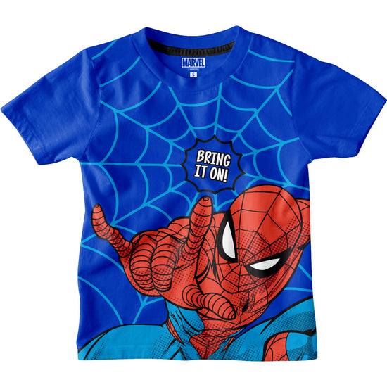 Bring It On Spider Man Boys Tshirt Blue