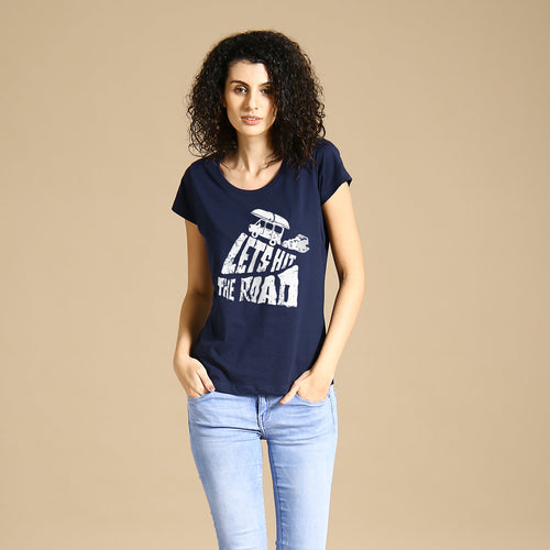 Let's Hit The Road, Matching Travel Tees For Women