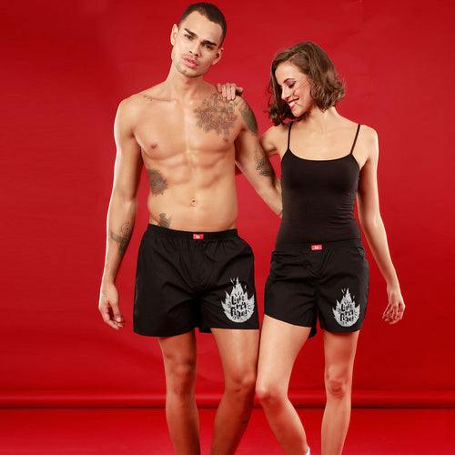 Light My Fire, Matching Black Couple Boxers