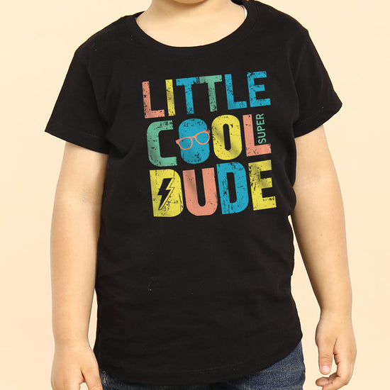 Big/Little Cool Dude, Matching Tees For Brothers