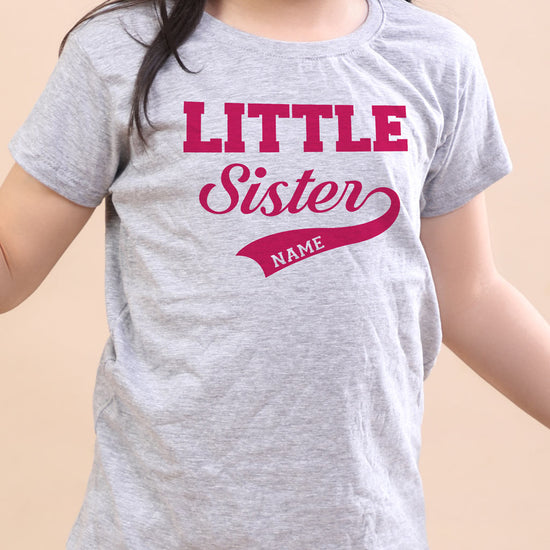 Little, Personalised Tee For Sister