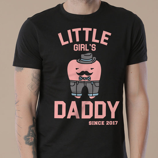 Little Girl's Daddy, Personalized Tee For Dad