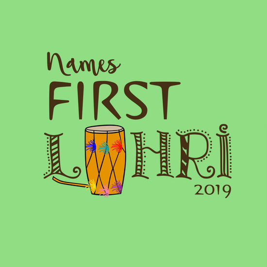 First Lohri,  Personalized Bodysuit For Baby