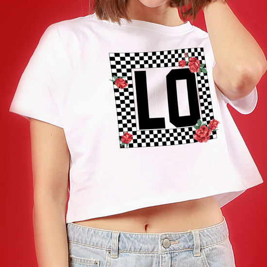 LOVE Lego, Matching White Couple Crop Top And Tee