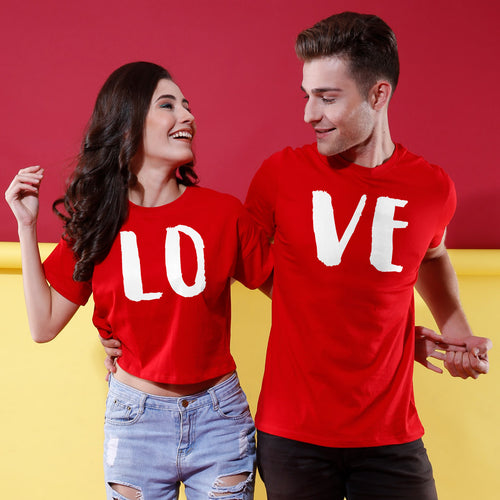 Love Combo Crop Top & Tee
