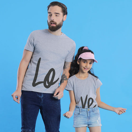 Love Dad And Daughter Matching Tshirt